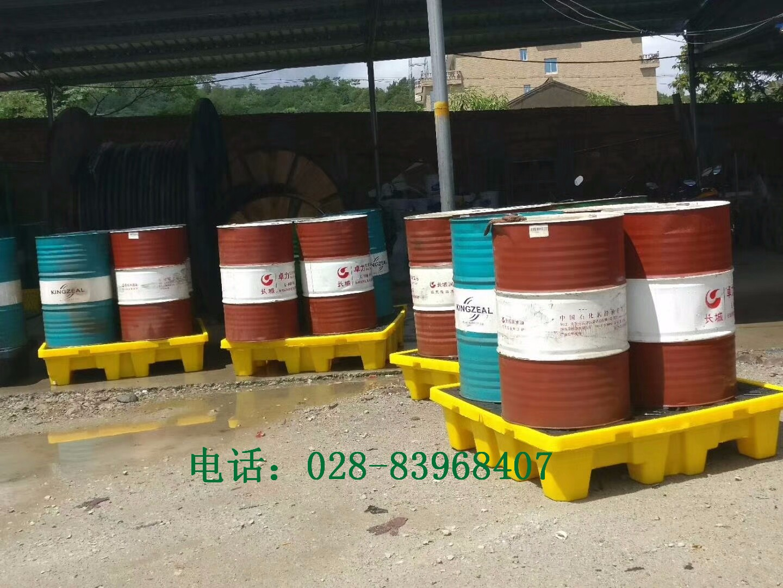 四桶防渗漏托盘使用案例